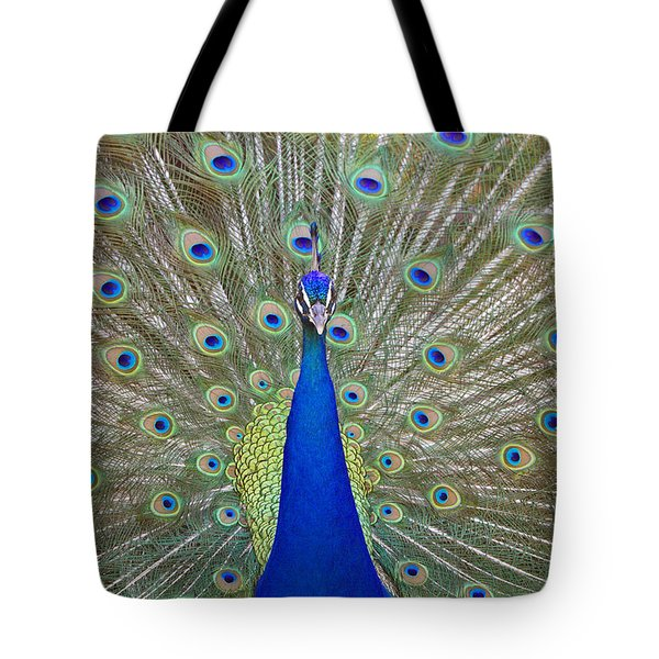 Tote Bag featuring the pyrography Showing Off by Shoal Hollingsworth