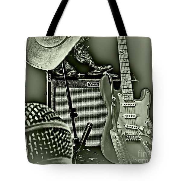 Show's Over - B W Tote Bag by Robert Frederick