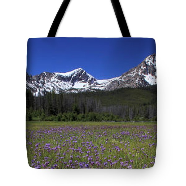 Showy Penstemon Wildflowers Sawtooth Mountains Tote Bag