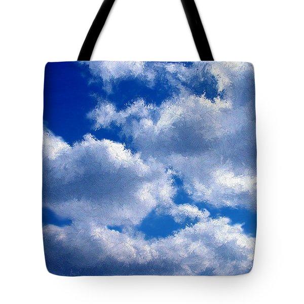 Shredded Clouds Tote Bag