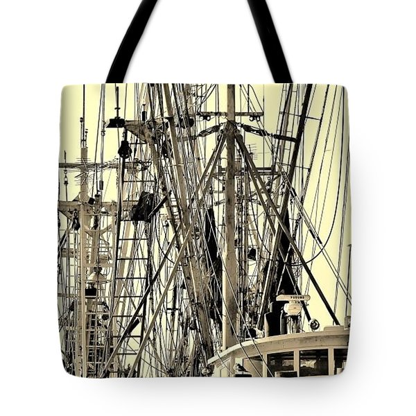 Shrimp Boat Tote Bag by Debra Forand
