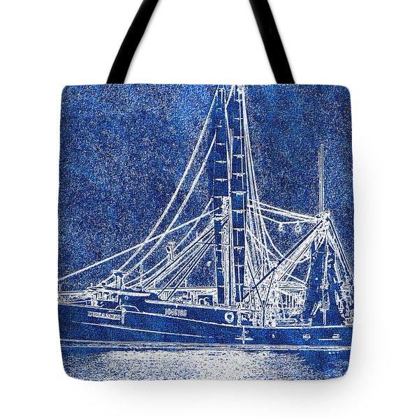 Shrimp Boat - Dock - Coastal Dreaming Tote Bag