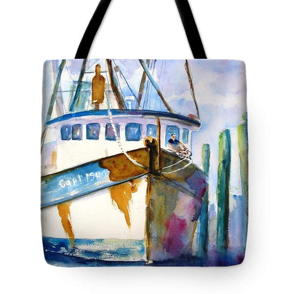 Shrimp Boat Isra Tote Bag