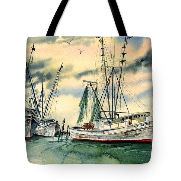Shrimp Boats In The Keys Tote Bag