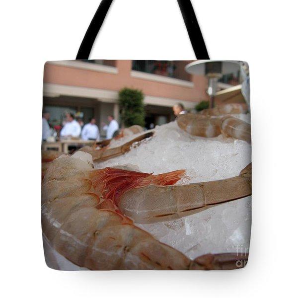 Shrimp On Ice Tote Bag