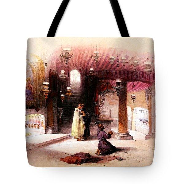 Shrine Of The Nativity Bethlehem April 6th 1839 Tote Bag