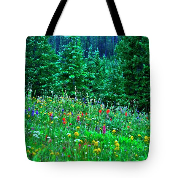 Shrine Pass Wildflowers Tote Bag