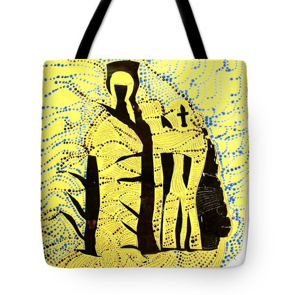 Shroud Of Jesus Tote Bag by Gloria Ssali
