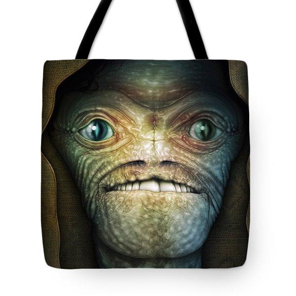 Shrouded Alien Tote Bag by James Larkin