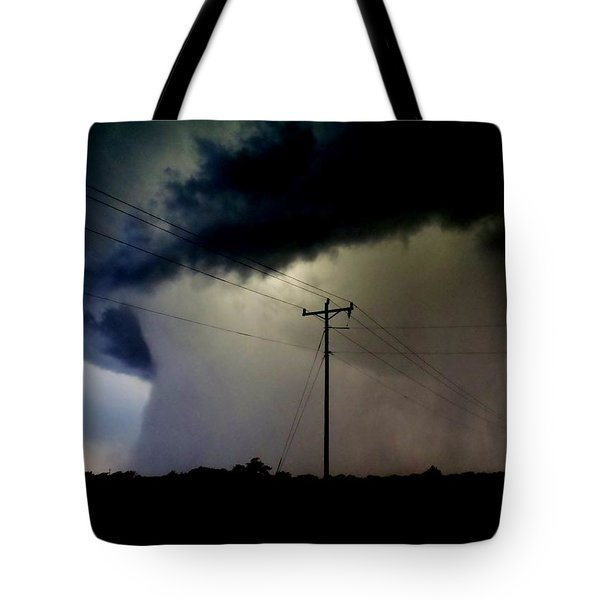 Tote Bag featuring the photograph Shrouded Tornado by Ed Sweeney