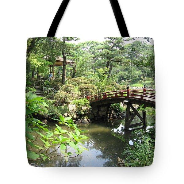 Shukkeien Bridge Tote Bag
