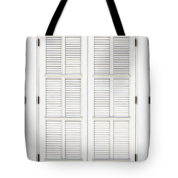 Tote Bag featuring the photograph Shutters In Ponce by Bryan Mullennix
