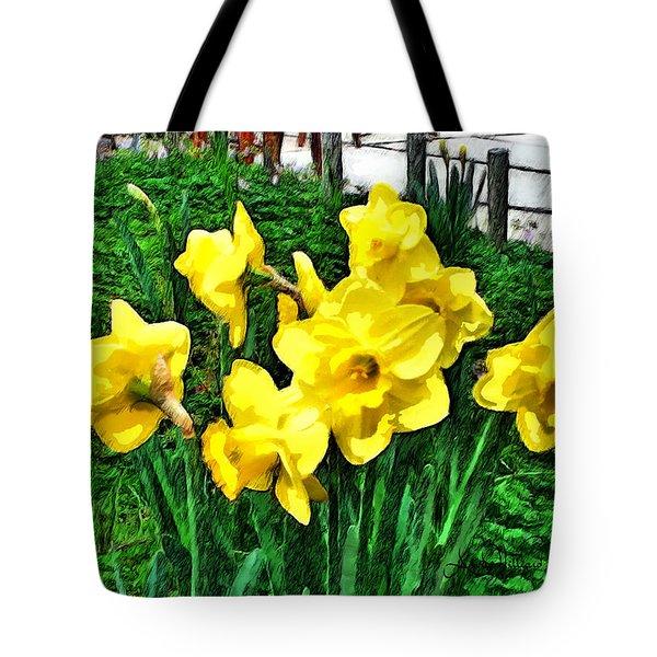 Shy Daffodils  Tote Bag