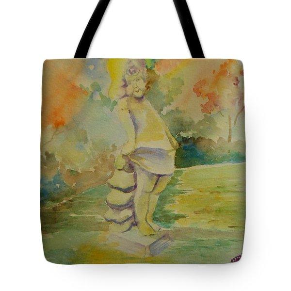 Shy Garden Angel Tote Bag