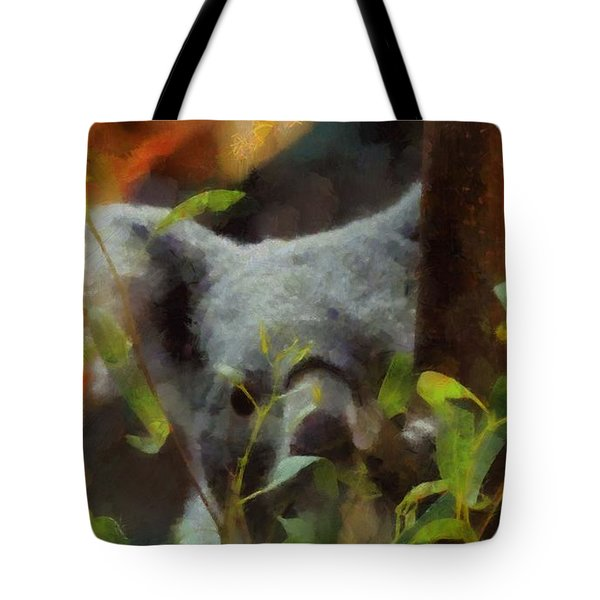 Shy Koala Tote Bag by Dan Sproul
