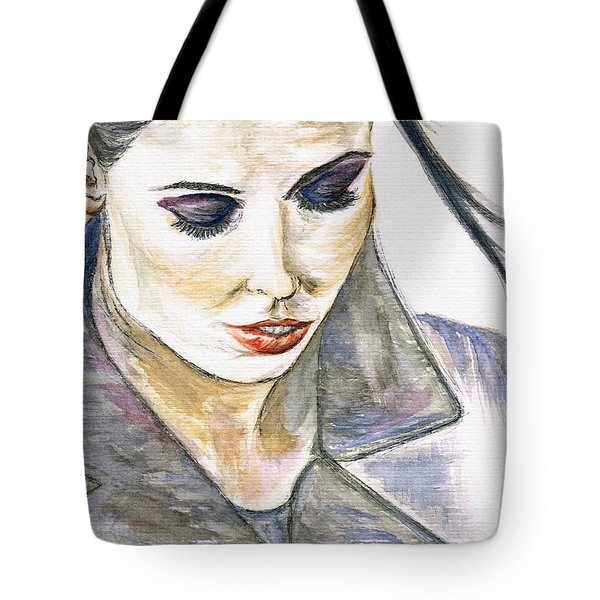 Shy Lady Tote Bag