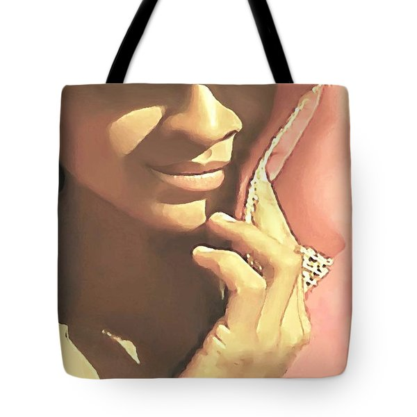 Tote Bag featuring the painting Shy by Sophia Schmierer