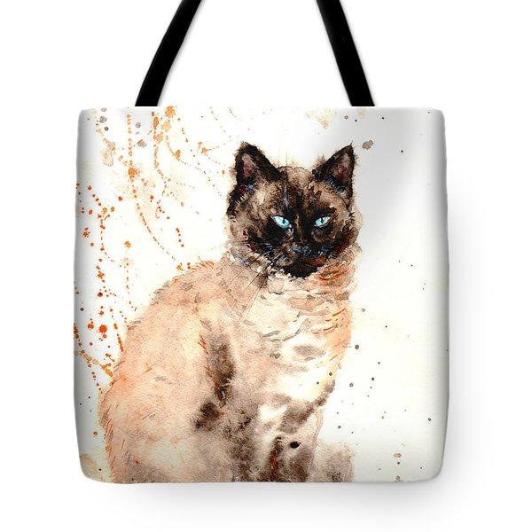 Siamese Beauty Tote Bag by Zaira Dzhaubaeva