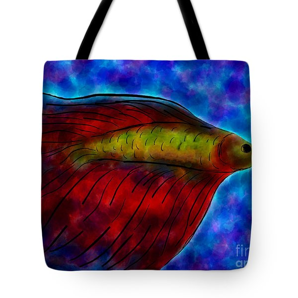 Siamese Fighting Fish II Tote Bag