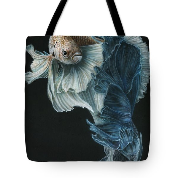 Siamese Fighting Fish Three Tote Bag