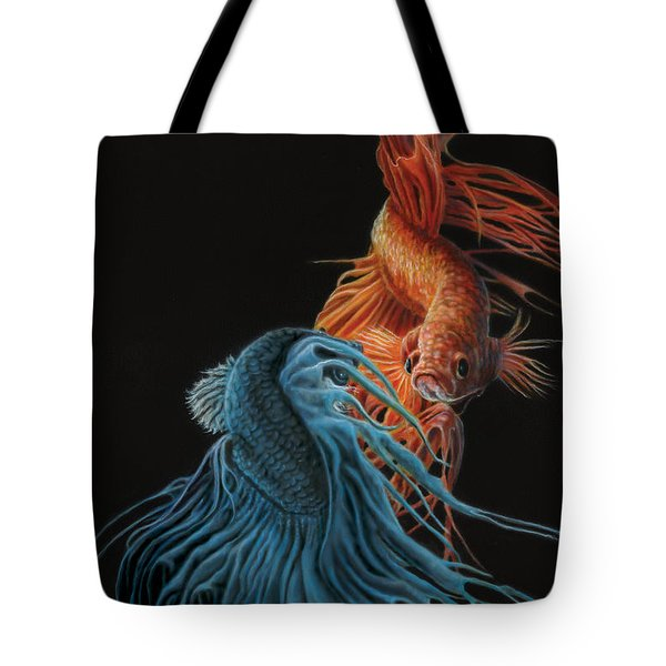 Siamese Fighting Fish Two Tote Bag