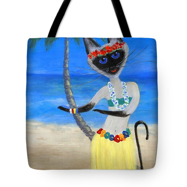 Siamese Queen Of Hawaii Tote Bag