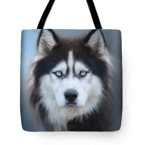 Siberian Husky Tote Bag by Lena Auxier