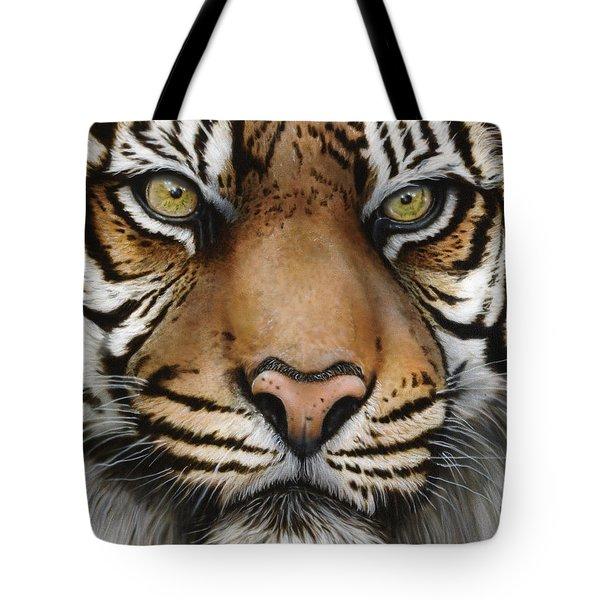 Siberian Tiger Closeup Tote Bag