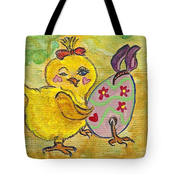 Tote Bag featuring the painting Sibling Rivalry by Ella Kaye Dickey