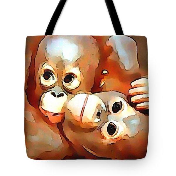 Siblings Tote Bag by Catherine Lott