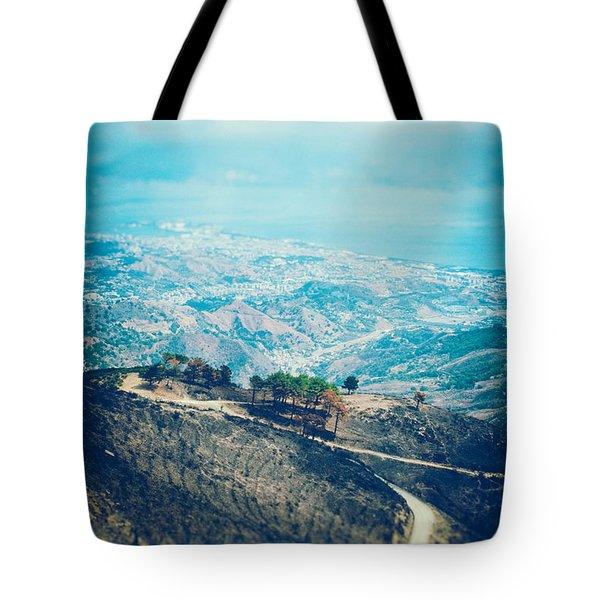 Tote Bag featuring the photograph Sicilian Land After Fire by Silvia Ganora