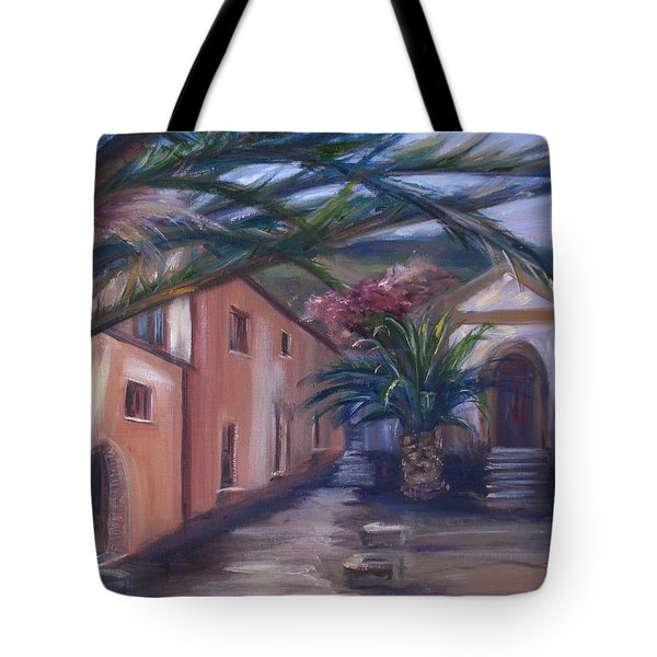 Tote Bag featuring the painting Sicilian Nunnery II by Donna Tuten
