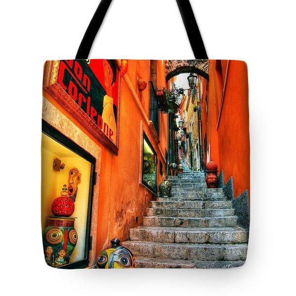 Sicilian Steps Tote Bag