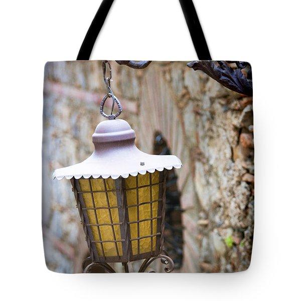 Sicilian Village Lamp Tote Bag