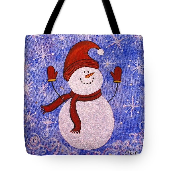 Sid The Snowman Tote Bag