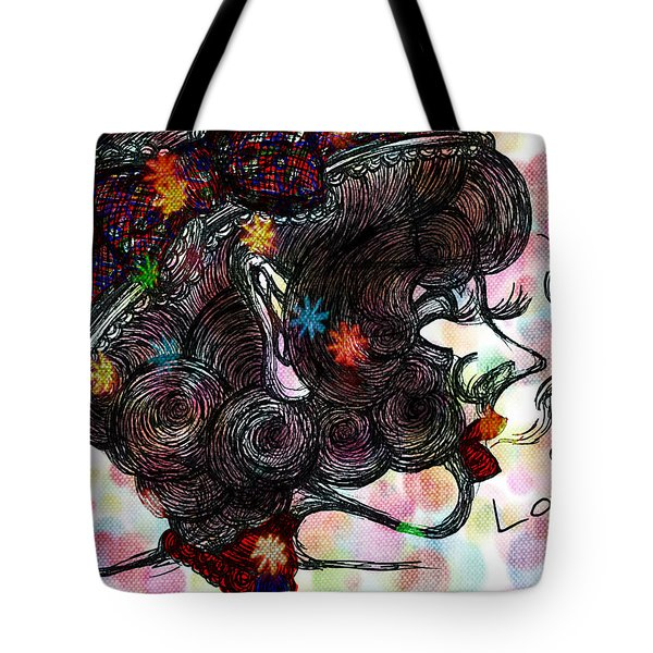 Side Face Lady Tote Bag