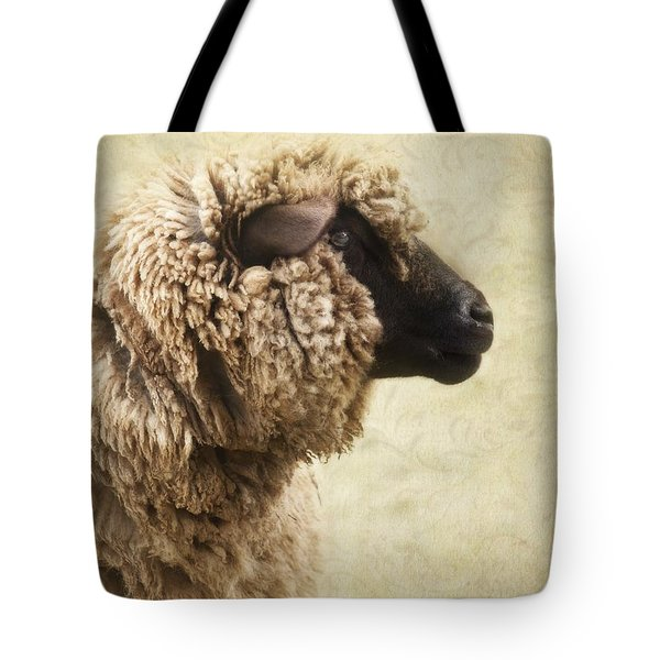 Side Face Of A Sheep Tote Bag