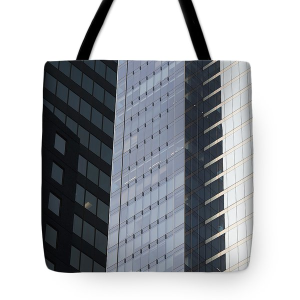 Side Of An Office Towers With Glass Tote Bag by Keith Levit
