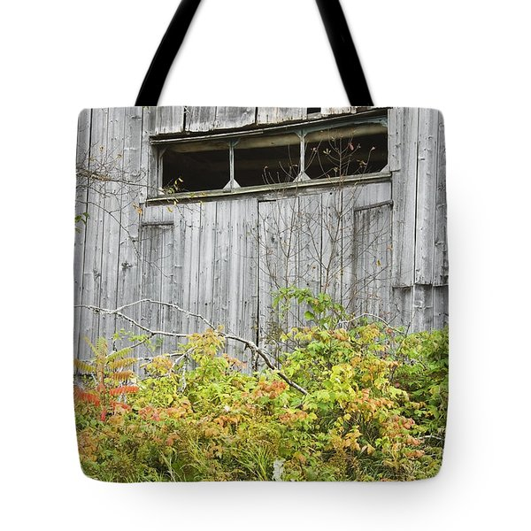Side Of Barn In Fall Tote Bag by Keith Webber Jr