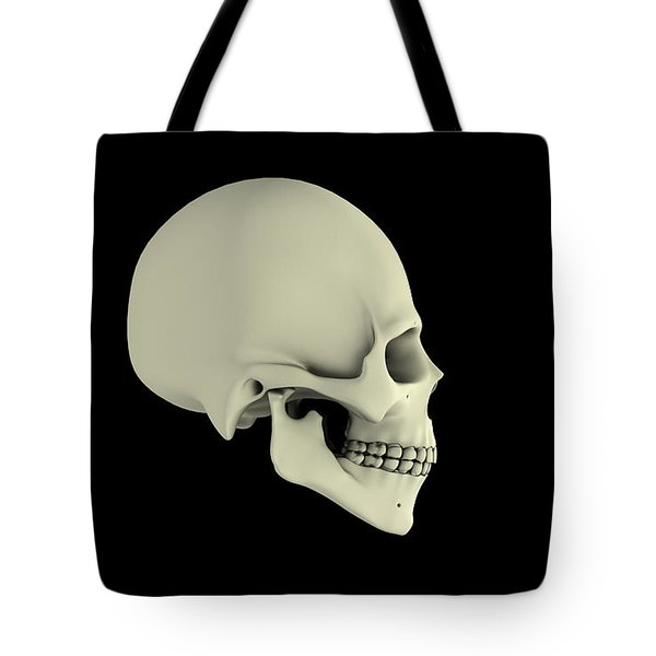 Side View Of Human Skull Tote Bag by Stocktrek Images