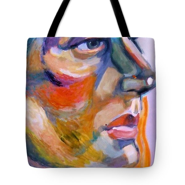 Sideview Of A Woman Tote Bag