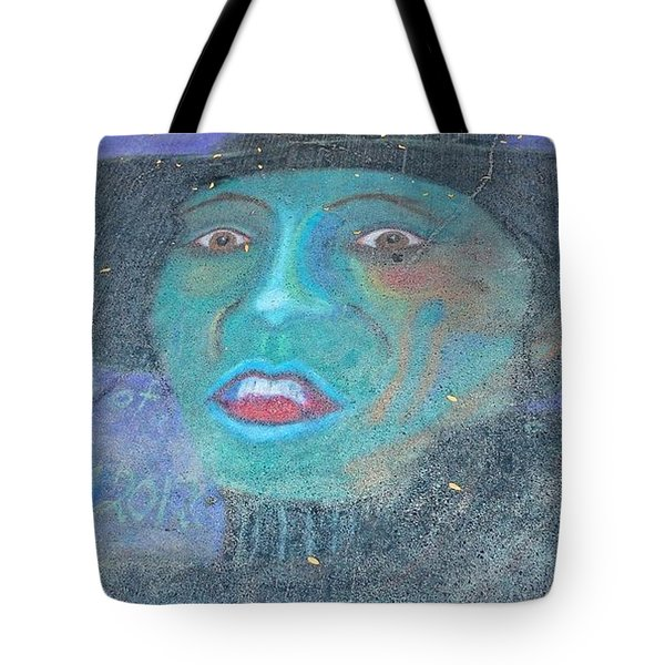 Tote Bag featuring the photograph Sidewalk Halloween Contest by Janette Boyd
