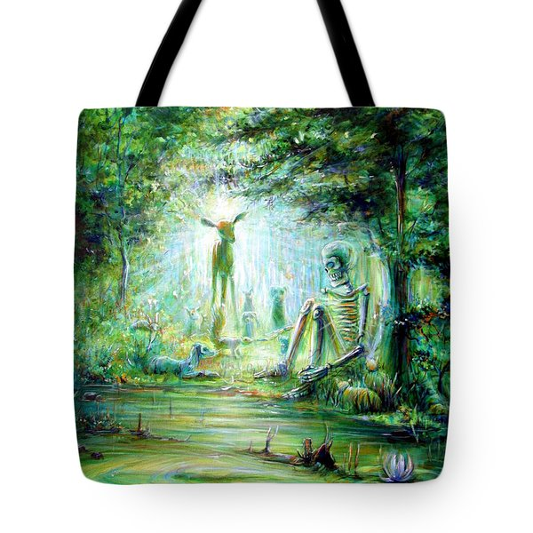 Tote Bag featuring the painting Siempre Conmigo by Heather Calderon