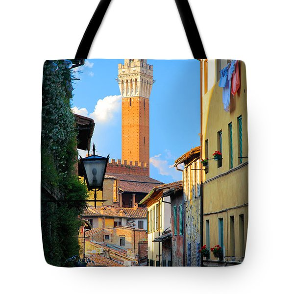 Siena Streets Tote Bag by Inge Johnsson