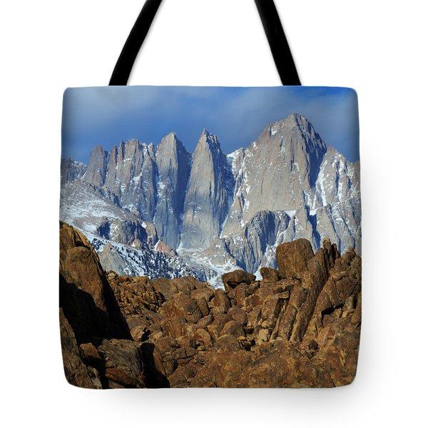 Sierra Nevada California Tote Bag by Bob Christopher