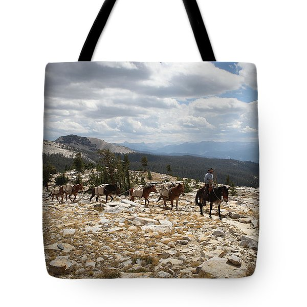Sierra Trail Tote Bag by Diane Bohna