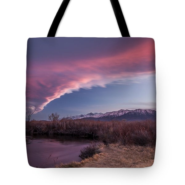 Sierra Wave And Lower Owens Tote Bag by Cat Connor