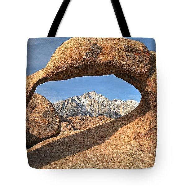 Sierras Under Mobius Tote Bag