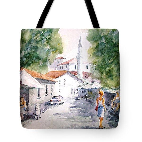 Tote Bag featuring the painting Siesta In Bozcaada... by Faruk Koksal