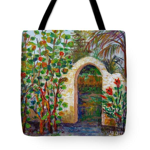 Siesta Key Archway Tote Bag by Lou Ann Bagnall